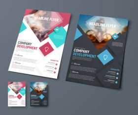 Vector brochure with place for photo 08