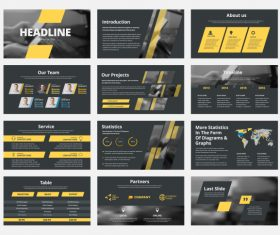 Vector slides with design elements 01