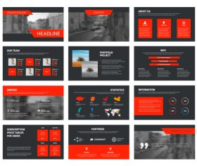 Vector slides with design elements 02