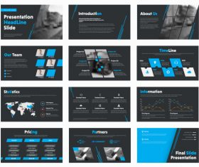 Vector slides with design elements 03