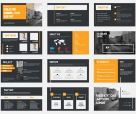 Vector slides with design elements 04