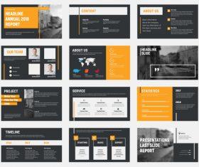 Vector slides with design elements 04