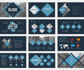 Vector slides with design elements 05
