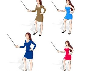 Vector woman illustration
