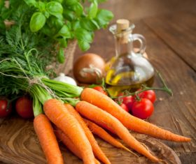 Vegetables on a wooden board 01