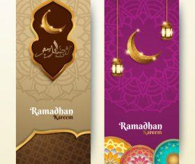 Vertical banner ramadan festival vector template 02