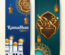 Vertical banner ramadan festival vector template 03