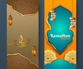 Vertical banner ramadan festival vector template 05