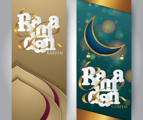 Vertical banner ramadan festival vector template 06
