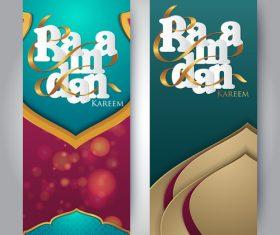 Vertical banner ramadan festival vector template 07