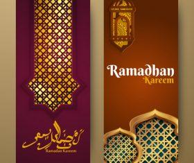Vertical banner ramadan festival vector template 08