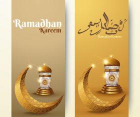 Vertical banner ramadan festival vector template 09
