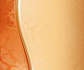 Vintage golden decor background vector material