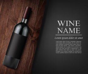 Vintage wine background design vector 02