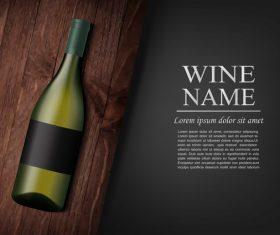 Vintage wine background design vector 03
