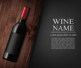 Vintage wine background design vector 04