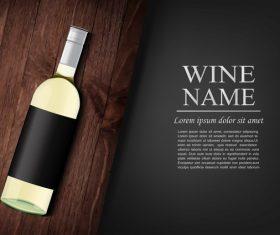Vintage wine background design vector 05