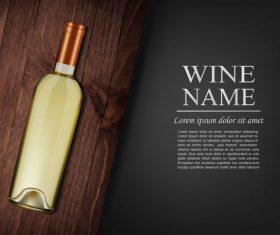 Vintage wine background design vector 06