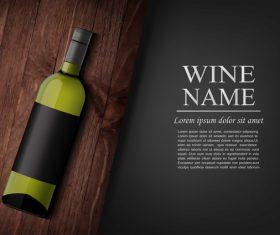 Vintage wine background design vector 07