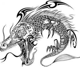 Vivid dragon vector material 01