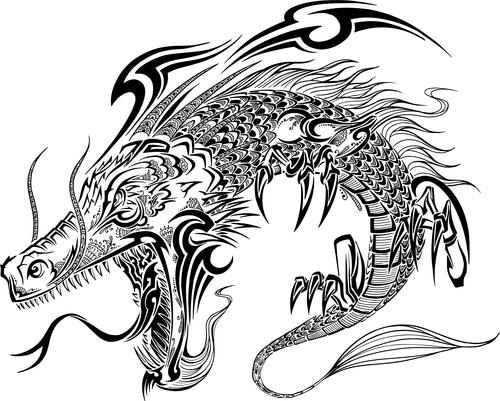 Vivid dragon vector material 01