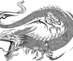 Vivid dragon vector material 02
