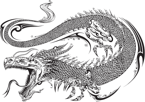 Vivid dragon vector material 02
