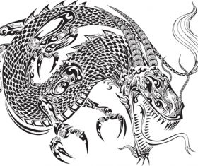 Vivid dragon vector material 03