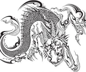 Vivid dragon vector material 04