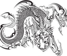 Vivid dragon vector material 04