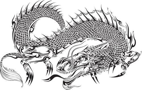 Vivid dragon vector material 05
