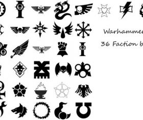 Warhammer Faction Photoshop Brushes