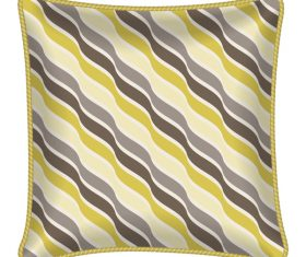 Wavy stripe pillow template vector
