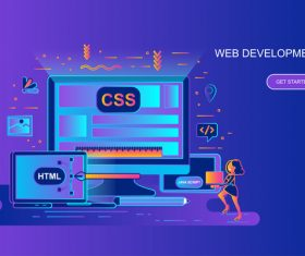 Web development design concept vector