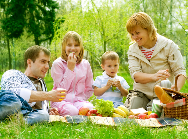 Weekend Family Picnic Stock Photo 03