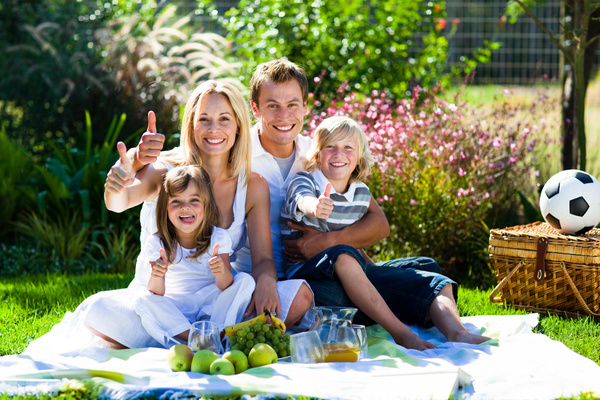 Weekend Family Picnic Stock Photo 04