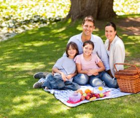 Weekend Family Picnic Stock Photo 05