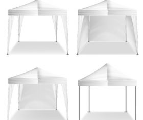 White tents vector illustration 03