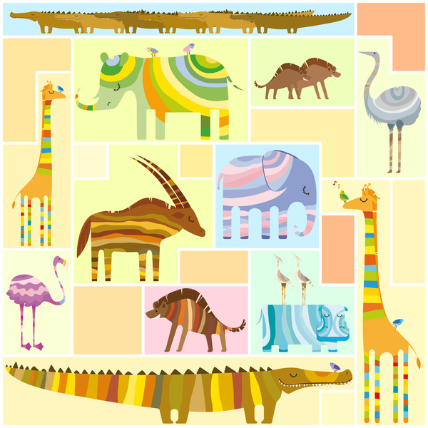 Wild animal abstract background vector