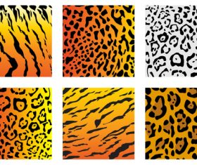 Wild animal skin pattern vector set 01