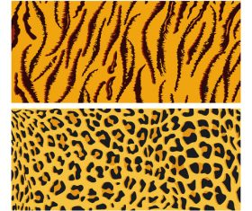 Wild animal skin pattern vector set 07