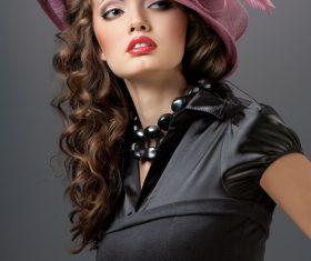 Woman retro dress Stock Photo