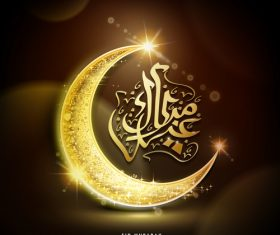 brown ramadan greeting background vector