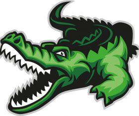cartoon crocodile illustration vector 04