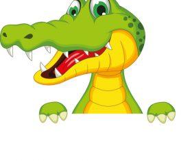 cartoon crocodile illustration vector 05