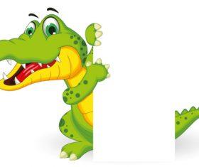 cartoon crocodile illustration vector 06