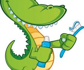 cartoon crocodile illustration vector 07