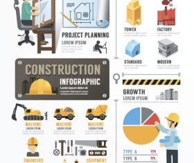 construction infographic template vector 01