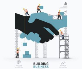 construction infographic template vector 03