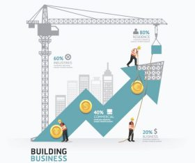 construction infographic template vector 04